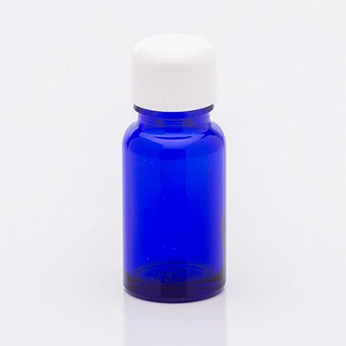 10 ml Blauglasflasche, Schraubverschluß  weiß
