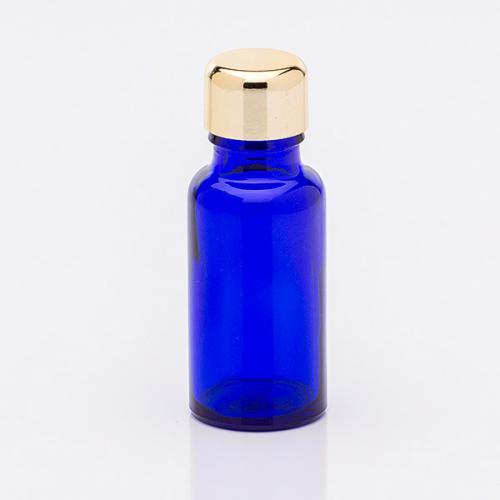 20 ml Blauglasflasche, Schraubverschluß goldf.