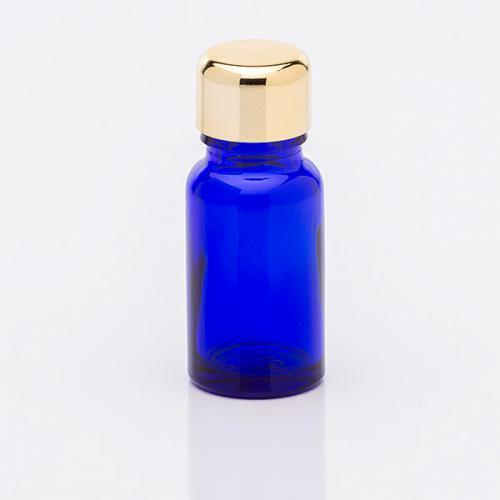 10 ml Blauglasflasche Schraubverschluss gold