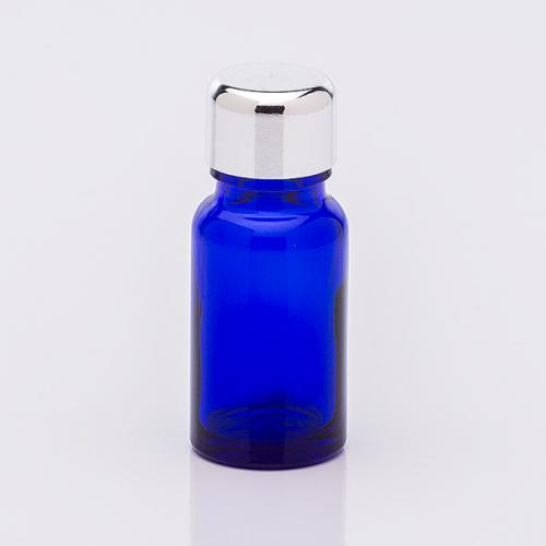 10 ml Blauglasflasche, Schraubverschluß silberf.