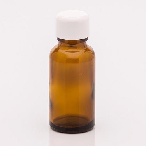 20 ml Braunglasflasche Schraubverschluss weiß