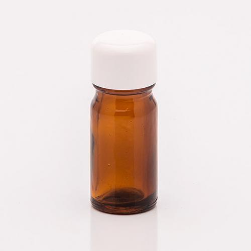 5 ml Braunglasflasche Schraubverschluss weiß