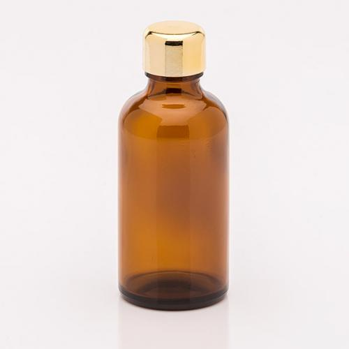 50 ml Braunglasflasche Schraubverschluss gold