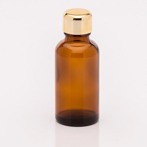 30 ml Braunglasflasche Schraubverschluss gold