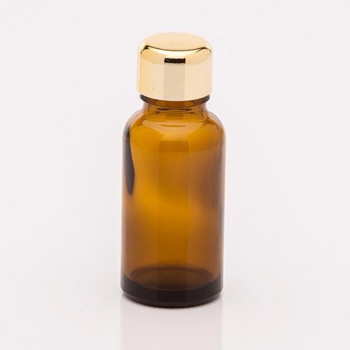 20 ml Braunglasflasche Schraubverschluss gold