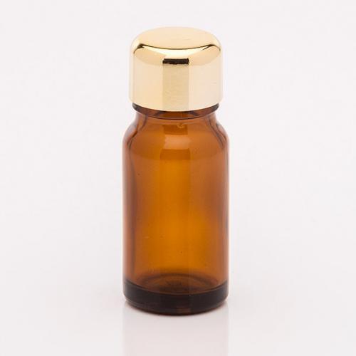 10 ml Braunglasflasche Schraubverschluß goldf.