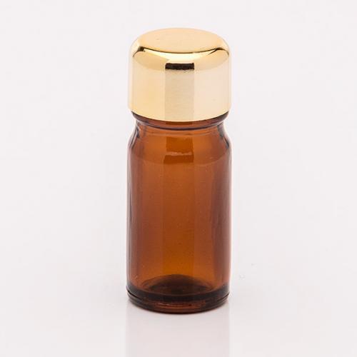 5 ml Braunglasflasche Schraubverschluß goldf.