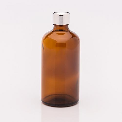 100 ml Braunglasflasche Schraubverschluß silberf.