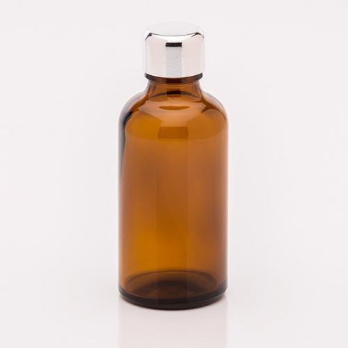 50 ml Braunglasflasche Schraubverschluss silber