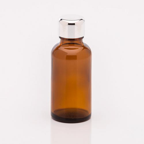 30 ml Braunglasflasche Schraubverschluss silber
