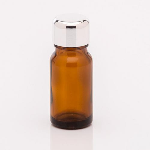 10 ml Braunglasflasche Schraubverschuss silber