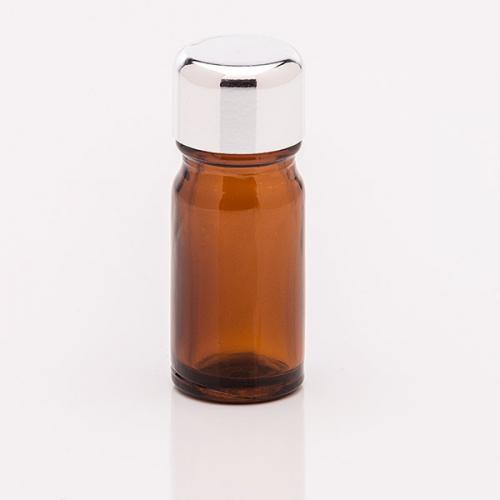 5 ml Braunglasflasche Schraubverschluss silber