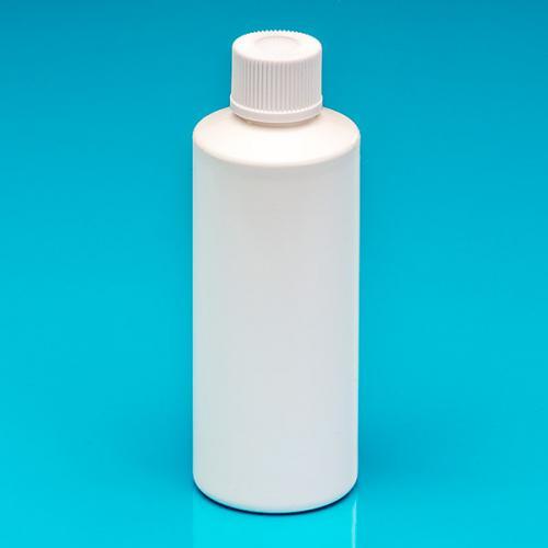 200 ml Flasche weiß, HDPE, DIN24 Schraubverschluß weiß, DIN24