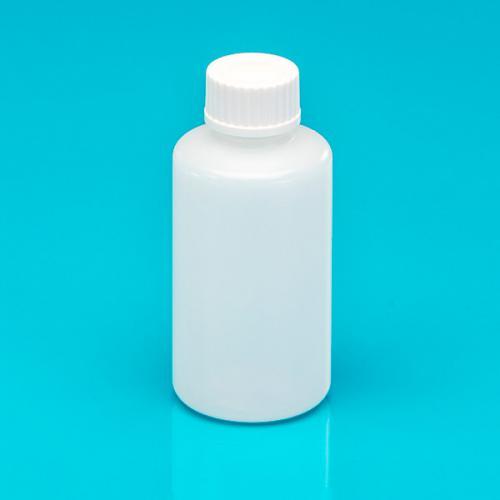 50 ml Flasche natur, HDPE, DIN18 einwandig Schraubverschluss weiß