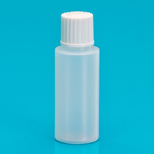 10 ml bottle nature LDPE,  single wall lid, white