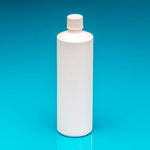 """500 ml Flasche weiß, HDPE Schraubverschluss weiß, """"Pharma"""""""
