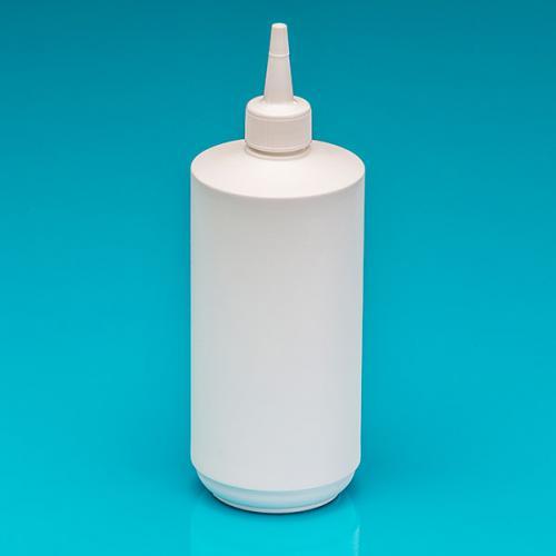 500 ml bottle white HDPE,  pipette-screw-lid, tip white