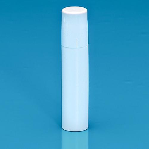 17 ml Roll On Flasche HDPE weiß, Kugelfitment PP, Schraubkappe weiß glänzend PP