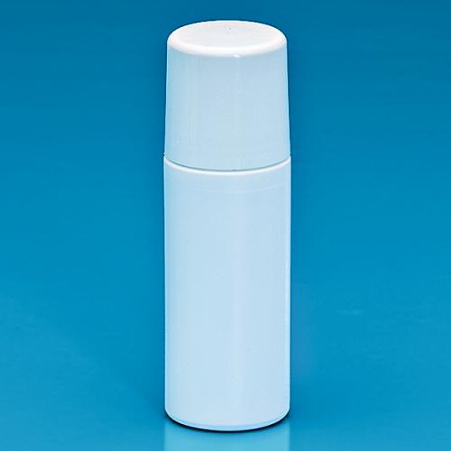 75 ml roll on bottle HDPE white  screw cap PP white, roller ball