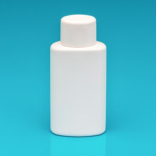 200 ml Flasche weiß HDPE Schraubverschluss weiß, Spritzeinsatz
