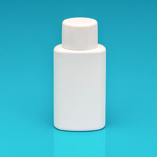 150 ml Flasche weiß, HDPE, Schraub-VS, Spritzeinsatz, Schraubverschl. weiß, Spritzeinsatz