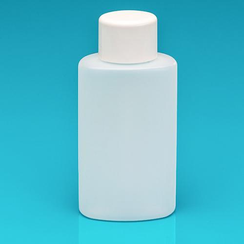 250 ml Flasche natur, HDPE Schrauverschluss weiß, Spritzeinsatz