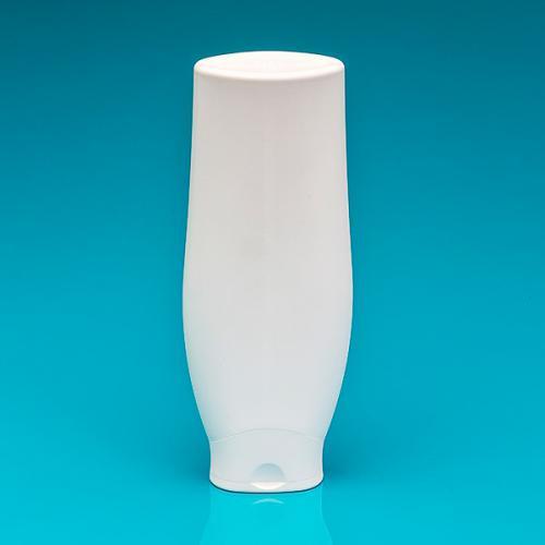 300 ml Flasche, oval, weiß, HDPE Klappscharnierverschluß weiß