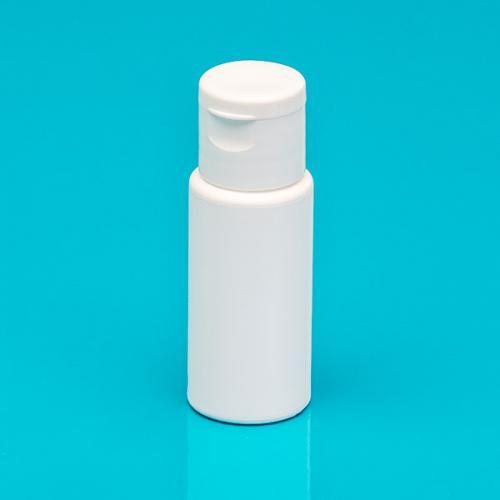 20 ml Flasche weiß PE DIN 18 ,Klappscharnier-