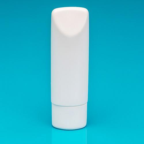 100 ml Tubenflasche weiß, PE Deckel weiß, inkl. Spritzeinsatz