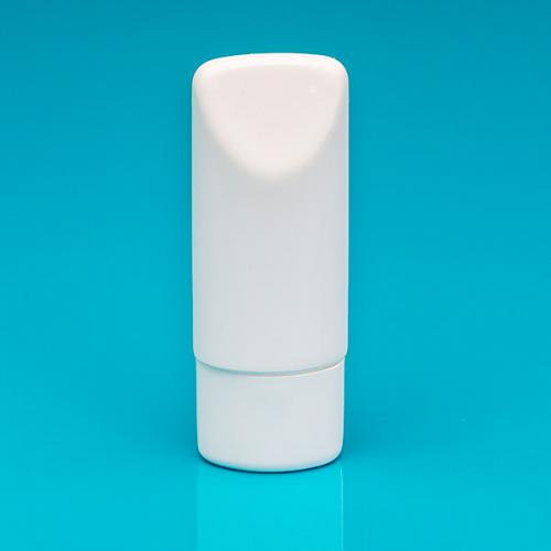 75 ml Tubenflasche weiß, PE Deckel weiß, inkl. Spritzeinsatz