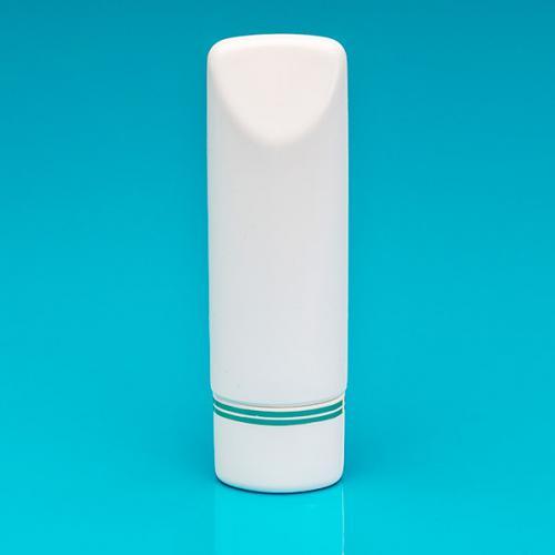 100 ml Tubenflasche, weiß, PE Deckel weiß/Goldbänder.,inkl. Spritzeinsatz