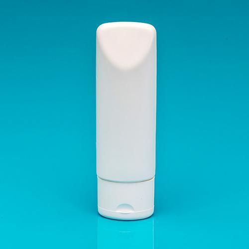 100 ml tube-bottle white PE oval flip-lid white PP