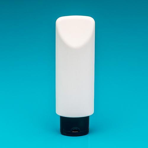 200ml Tubenflasche weiß LD/HD Klappscharnierverschluss schwarz