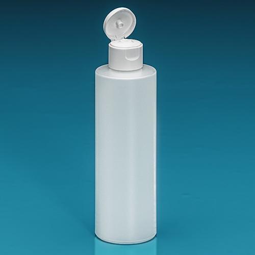200 ml Flasche Green PE natur, Flip-Top PP weiß