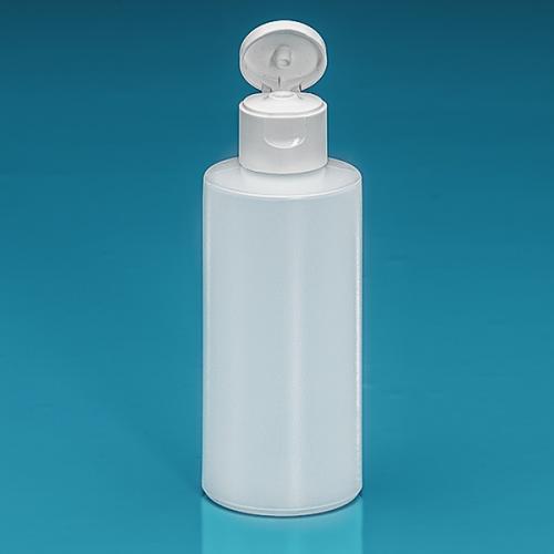 150 ml Flasche Green PE natur, Flip-Top PP weiß