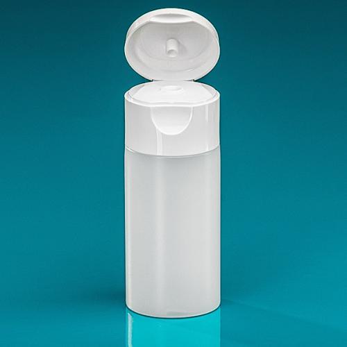 50 ml Flasche Green PE natur, Flip-Top PP weiß