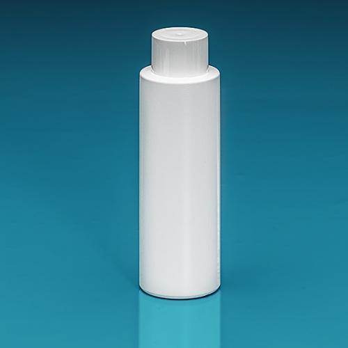 200 ml Flasche Green PE weiß, SV klein PP weiß, Spritzeinsatz LDPE natur