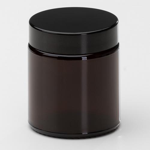 120 ml Braunglasdose Deckel schwarz mit EPE Einlage