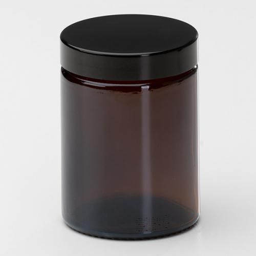 60 ml Braunglasdose Deckel schwarz mit EPE Einlage