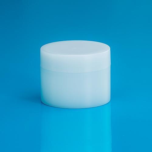 50 ml Dose Green PE, natur, Deckel und Abdeckscheibe Green PE natur