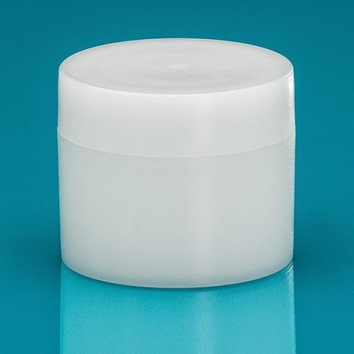 30 ml jar, green PE nature,  lid & masking disc green PE nature