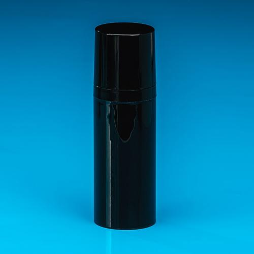 100 ml bottle white PP,  airless-dispenser white PP, cap naturePP