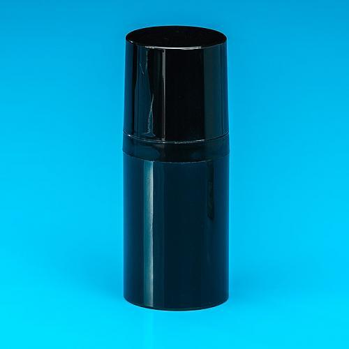 30 ml Flasche, schwarz, PP, Airless Dispenser schwarz, PP, Kappe schwarz, PP, Ø37 mm