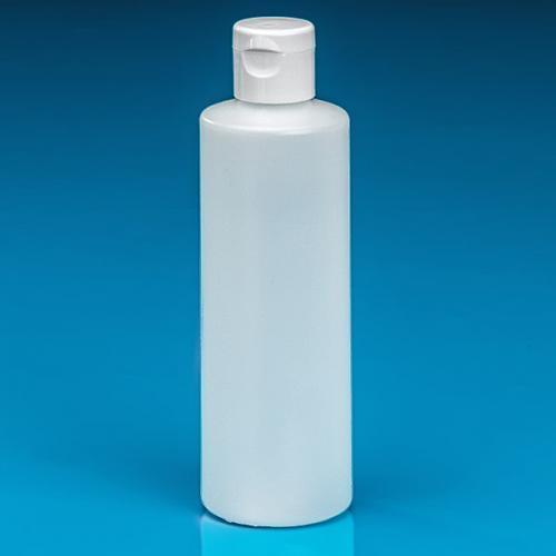 250 ml Flasche natur, HDPE  Klappscharnierverschluss weiß
