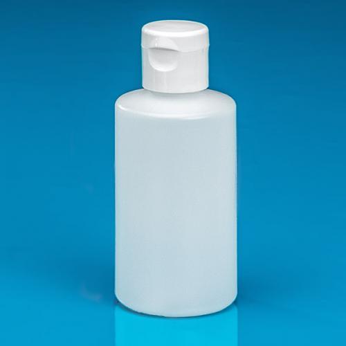150 ml bottle nature PE,  flip-lid white PP