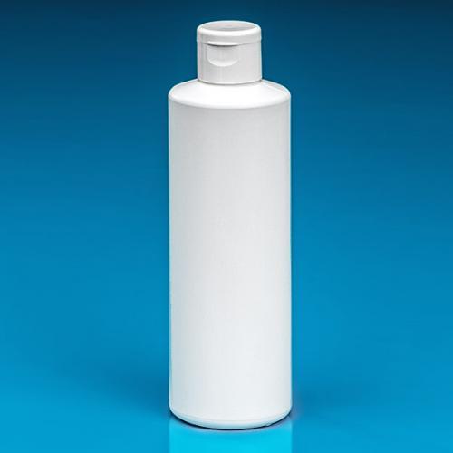 250 ml Flasche weiß, HDPE  Klappscharnierverschluss weiß