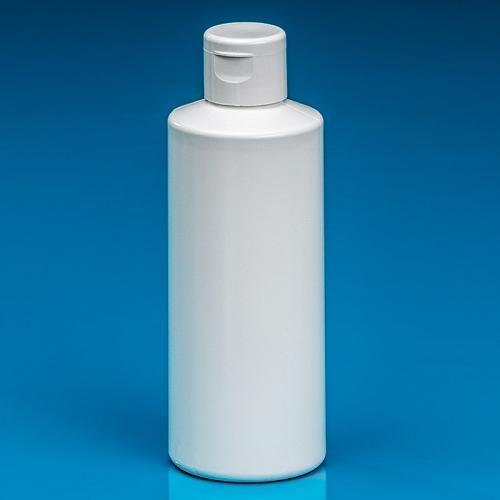 200 ml Flasche weiß, HDPE Klappscharnierverschluss weiß