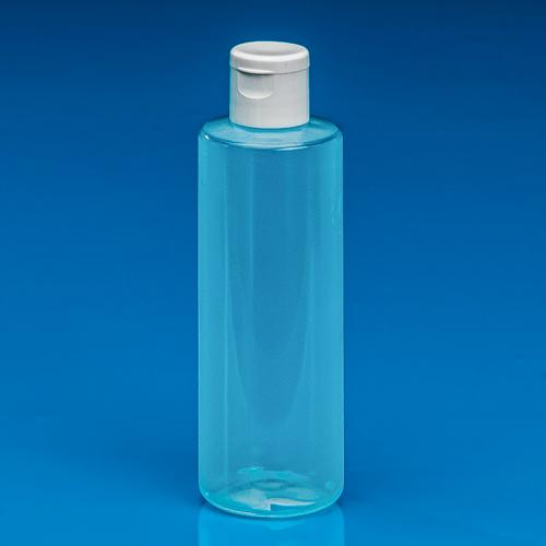 100ml Flasche PP natur, DIN 18 Klappscharnier-Verschluß weiß