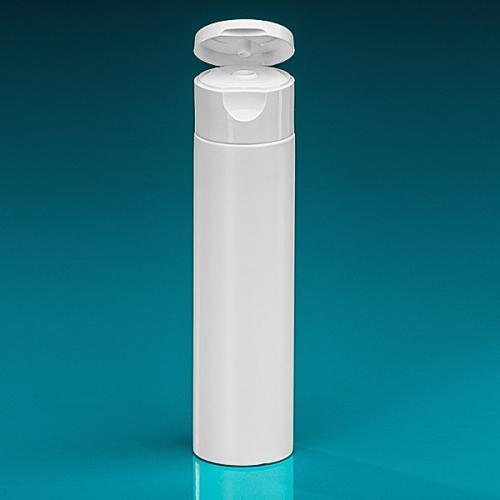 100 ml Flasche Green PE weiß, Flip-Top PP weiß