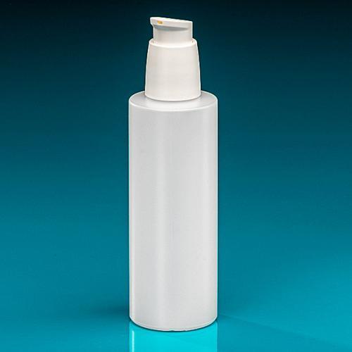 200 ml Flasche Green PE natur Dispenser weiß verriegelbar, Hub 0,5 ml, Steigrohr ungekürzt
